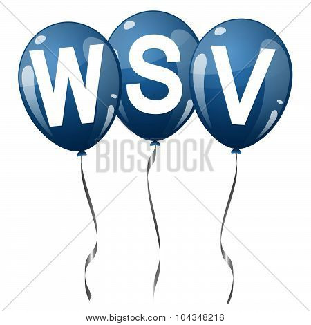 Colored Balloons With Text Wsv