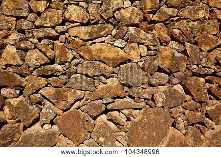 Masonry stone wall limestone stonewall texture background in Spain