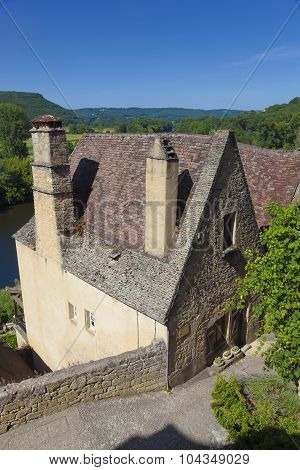 View Of Beynac-et-cazenac, Dordogne, Aquitaine, France
