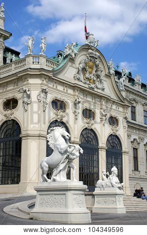 Main Entrance To Belvedere  Palace In Vienna