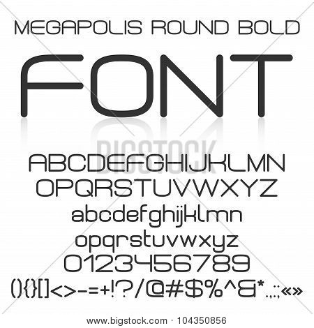 Trendy modern elegant bold font alphabet