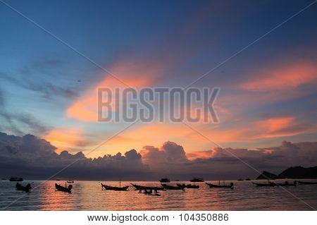 Sunset on Koh Tao island