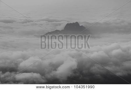 Sea Of Mist Over The Mountain