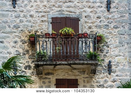 View On Balcony In Old Private Building