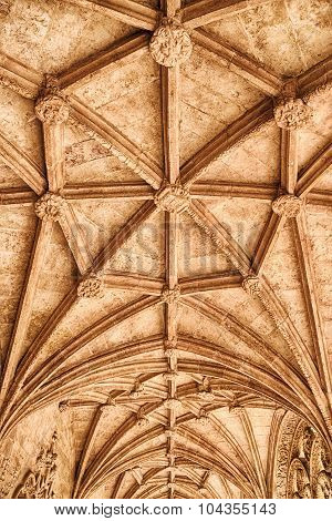 Ceiling In The Jeronimos Monastery