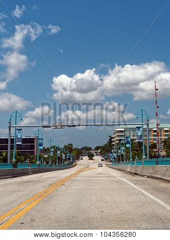 Driving Under Blue Skies Towards Drawbridge