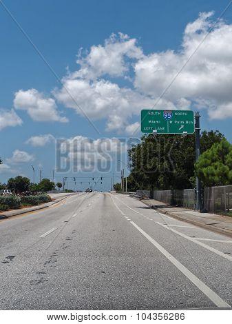 Driving Under Blue Skies