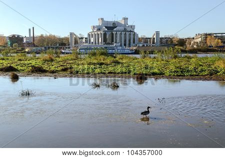 VELIKY NOVGOROD, RUSSIA - OCTOBER 18, 2014. Novgorod Drama Theatre named after F.M. Dostoevsky in Veliky Novgorod Russia