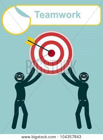 Teamwork. Leadership. Focus your goal