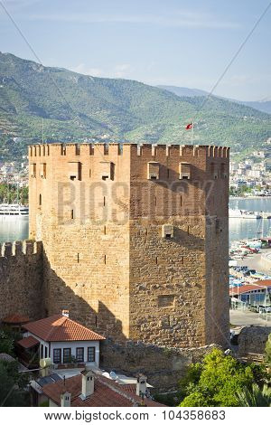 Kizil Kule (Red Tower), Walk around Alanya, Turkey