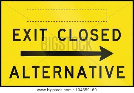 Exit Closed - Alternative Right In Australia