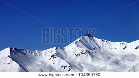 Panoramic View On Off-piste Snowy Slope