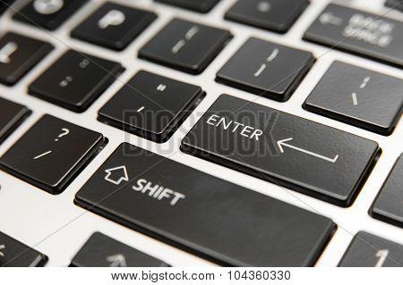 Laptop computer keyboard close-up