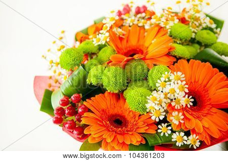 colourful flower bucket background
