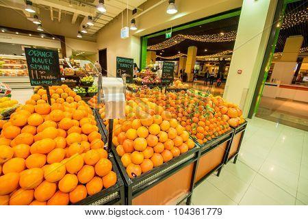 Dubai - JANUARY 7, 2014: Dubai Supermarket Waitrose on January 7 in Dubai, UAE. Dubai Supermarket Waitrose is the largest supermarket in Dubai