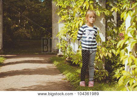 The girl in the green gallery in Oranienbaum