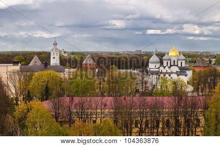 Novgorod Kremlin With A Birds-eye View, Veliky Novgorod