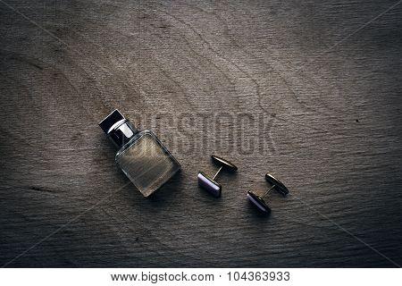Male Perfume And Cufflinks