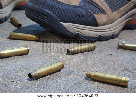 Empty Rifle Shells