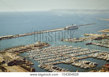 yacht port of Alicante, Valencia, Spain
