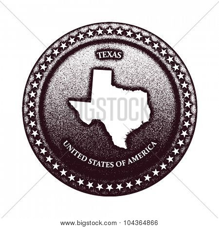 texas. vector sign in grunge style. vector illustration (one compound path)