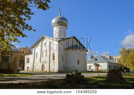 The Church of Saint Nicolas the White of the Saint Nicholas White Monastery in Veliky Novgorod, Russia