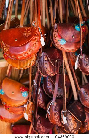 Variety souvenir purses, vintage style, Mexica