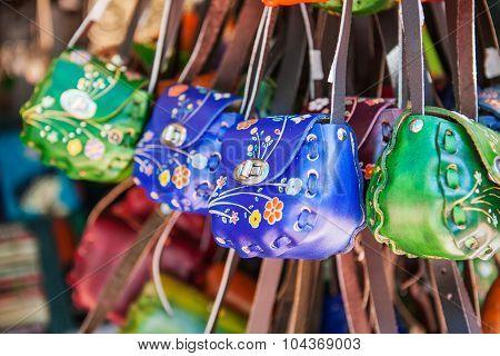 Variety souvenir purses,vintage style, Mexica