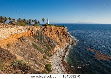 Beautiful view on point vicente in rancho palos verdes and pacific ocean Los Angeles, California.