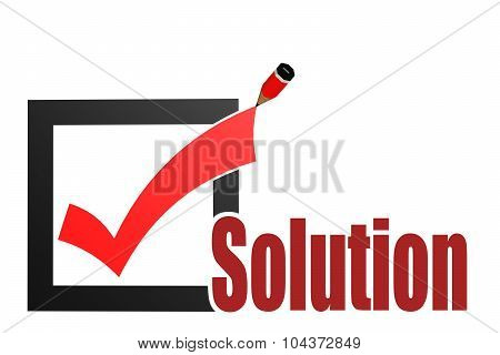 Check Mark With Solution Word