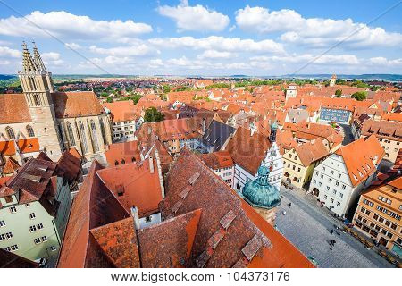 Rothenburg ob der Tauber, picturesque medieval city in Germany