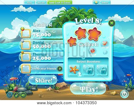 Fish World - Window Level Complete For Computer Web Game.jpg