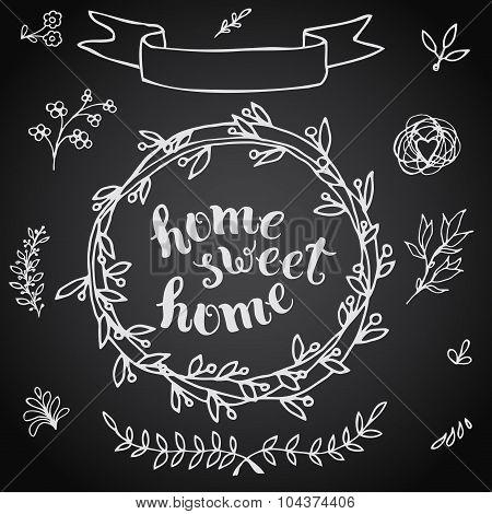 Home Sweet Home, Handmade Calligraphy.