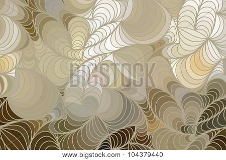 wave background of doodle drawn lines