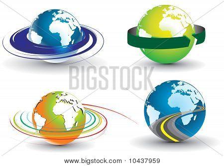 Swirl Globe Set