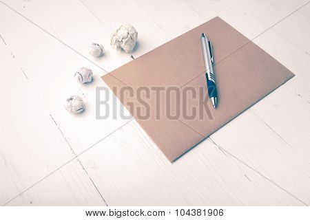 Brown Paper And Crumpled Vintage Style