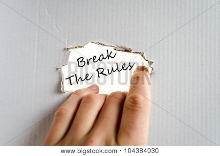 Break The Rules Text Concept