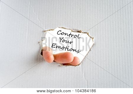 Control Your Emotions Text Concept