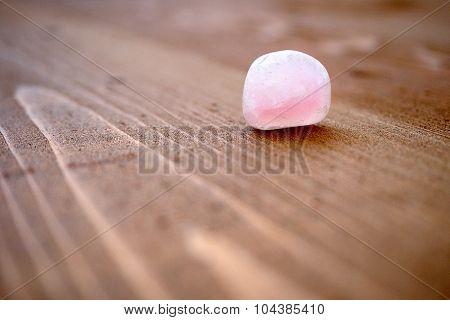 Smooth stone of pink quartz