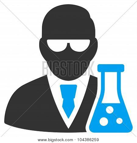 Scientist With Flask Icon