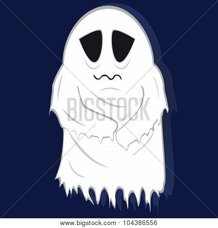 Pale Ghost Of The Poor On Striped Background