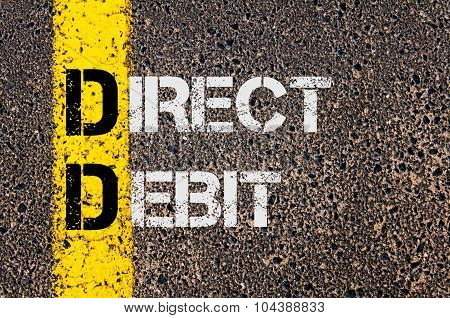 Business Acronym Dd As Direct Debit