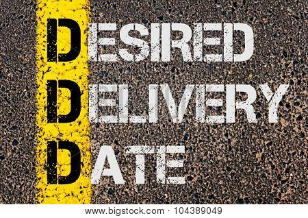 Business Acronym Ddd As Desired Delivery Date