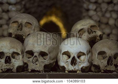 The ossuary in Sedlec Kostnice, Kutna Hora, Czech Republic