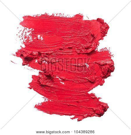 Smudged Lipstick Texture