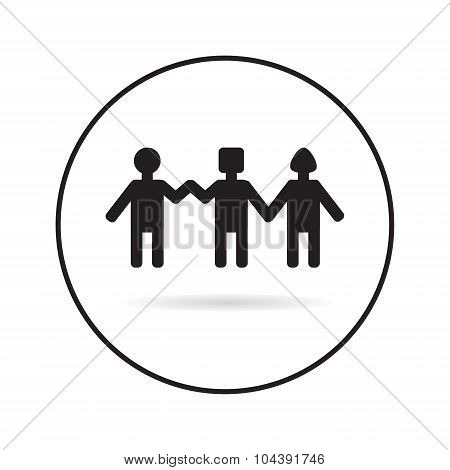 People Holding Hands.group Of People. Stock Vector