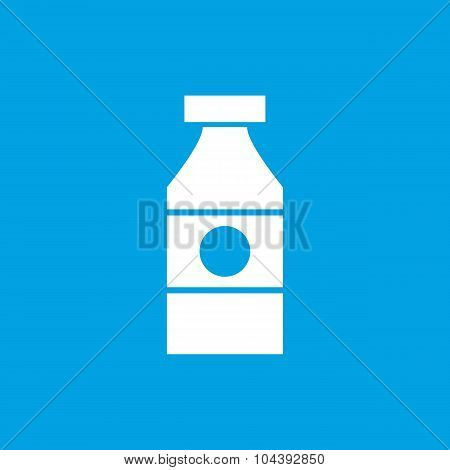 Sauce bottle icon, white