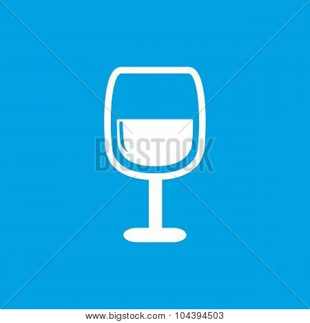 Wine glass icon, white