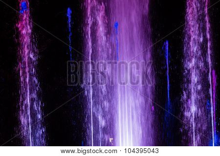 Colorful musical fountain