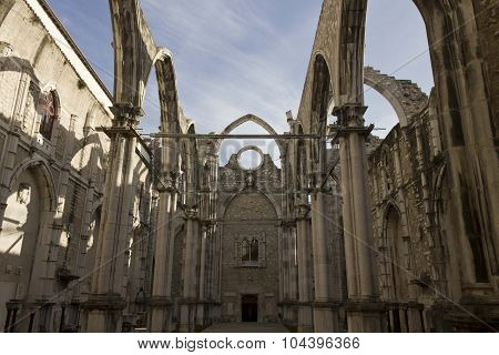 Carmo Convent In Lisbon, Roofless Convent